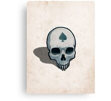 Vampire Skull, Ace of Spades Canvas Print