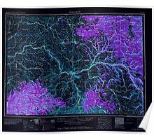 USGS Topo Map Washington Pullman 243310 1958 250000 Inverted Poster