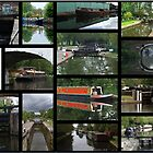 Grand Union canal Collage1 by Chris Day