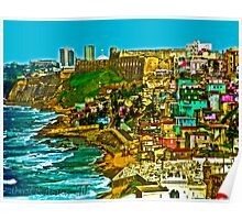 Walled City of Old San Juan Puerto Rico Poster