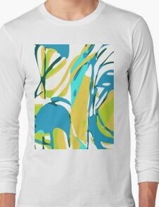 Abstract Splash Long Sleeve T-Shirt