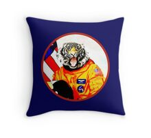 Astronaut Tiger Throw Pillow