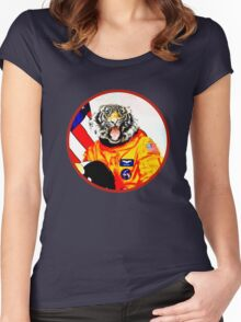 Astronaut Tiger Women's Fitted Scoop T-Shirt