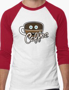 Cute Coffee Addict Men's Baseball ¾ T-Shirt