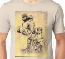 Armenian Mother & Children Escaping the Armenian Massacres of the late 19th century Unisex T-Shirt