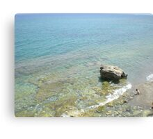Greek Island rock in the sea Canvas Print