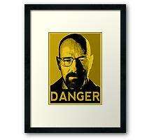 Danger White Framed Print
