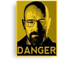 Danger White Canvas Print