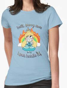 Don't worry mom, I can handle it! Womens Fitted T-Shirt