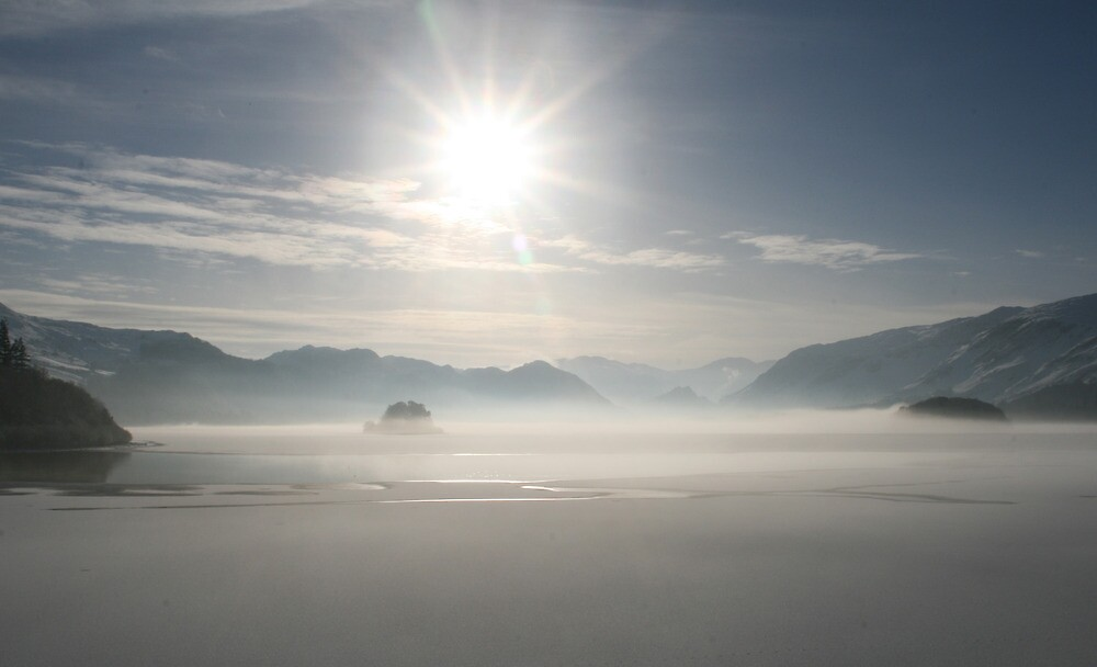 Ice and Mist on Derwentwater by Peter  Thomas