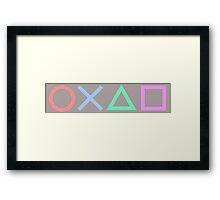 Playstation Symbols Framed Print