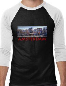 Amsterdam Street Scene Men's Baseball ¾ T-Shirt