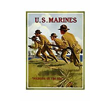 US Marines -- Soldiers Of The Sea Photographic Print
