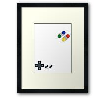 Control me, retro style Framed Print