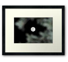 Lunar Eclipse Begins- Lycan Silhouette Framed Print