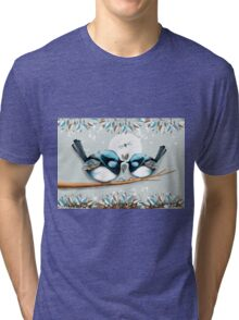 Blue Wrens Tri-blend T-Shirt