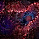 Red Fractal Abstract by Ann Garrett