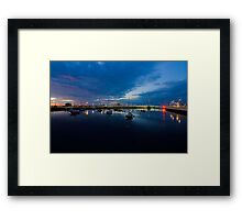 Pont y Ddraig Bridge and Harbour Framed Print