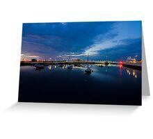 Pont y Ddraig Bridge and Harbour Greeting Card