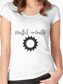 Single Minded Fixed Gear Tee Women's Fitted Scoop T-Shirt