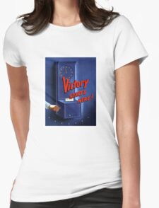 Victory Starts Here! -- WWII Womens Fitted T-Shirt