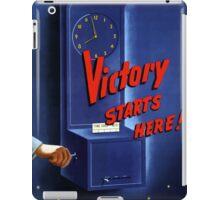 Victory Starts Here! -- WWII iPad Case/Skin