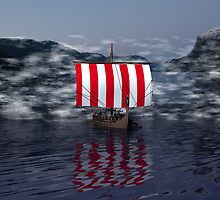 Ancestors on The Dark Fjord by Sazzart