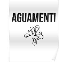 aguamenti - harry potter spell [monochrome] Poster