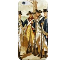 Infantry Of The Revolutionary War iPhone Case/Skin