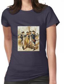 Infantry Of The Revolutionary War Womens Fitted T-Shirt