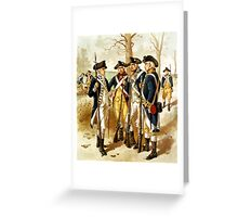 Infantry Of The Revolutionary War Greeting Card