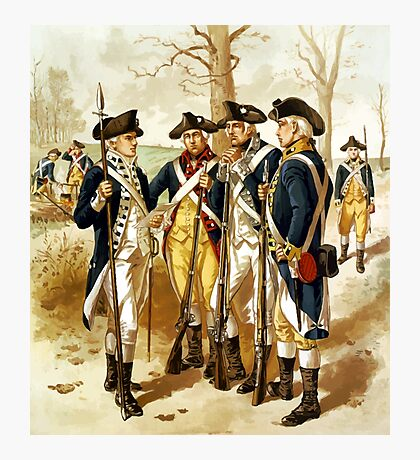 Infantry Of The Revolutionary War Photographic Print