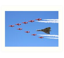 Final Vulcan flight with the Red Arrows 8 Art Print