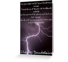 L'ennemi - Charles Baudelaire Greeting Card