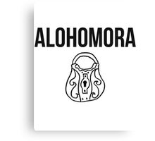alohomora - harry potter spell [monochrome] Canvas Print
