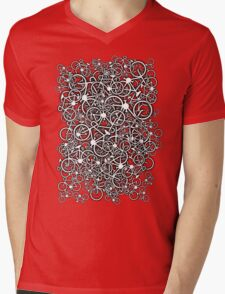 Tangled Up In Bicycles Mens V-Neck T-Shirt
