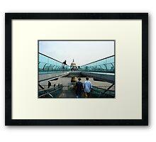 Amazing London - MILLENNIUM BRIDGE - UK Framed Print