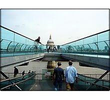 Amazing London - MILLENNIUM BRIDGE - UK Photographic Print