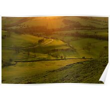 Dovedale sunset 1 Poster