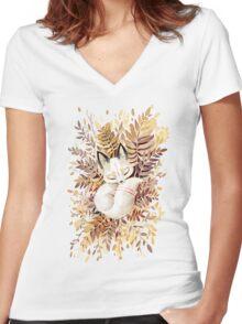 Slumber Women's Fitted V-Neck T-Shirt