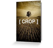 crop Greeting Card