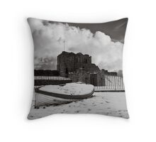 Both broken giants of time and place Throw Pillow