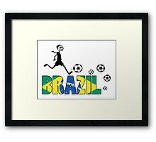 GO GO Brazil Framed Print