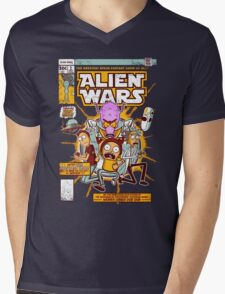 Alien Wars Mens V-Neck T-Shirt