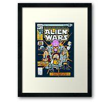 Alien Wars Framed Print