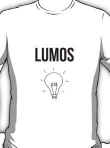 lumos - harry potter spell [monochrome] T-Shirt