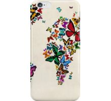 Butterflies Map of the World iPhone Case/Skin