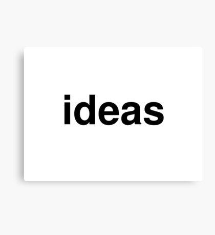 ideas Canvas Print