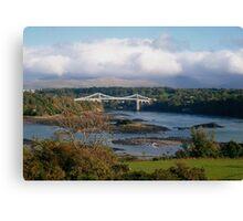 Menai Suspension Bridge, North Wales, UK Canvas Print