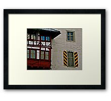 Colourful Shutters Framed Print